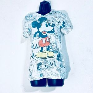 Mickey Mouse Burnout Comic Shirt